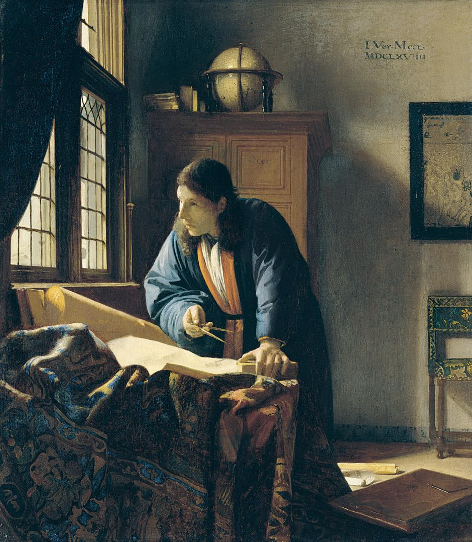 The Geographer by Johann Vermeer